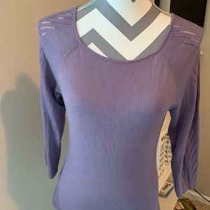 Ann Taylor Lavender Light Weight Sweater, Small
